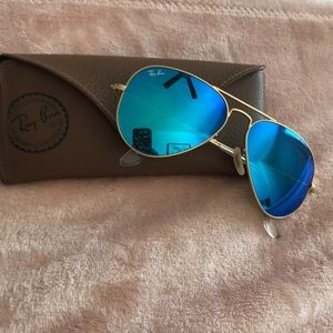 Authentic Blue Mirrored Ray Bans